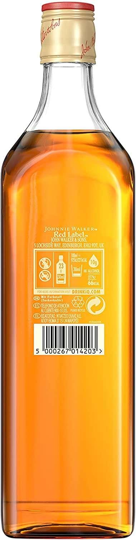 Rótulo de Johnnie walker vermelho