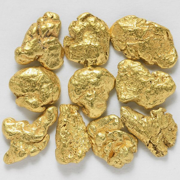 Raw Gold Nuggets